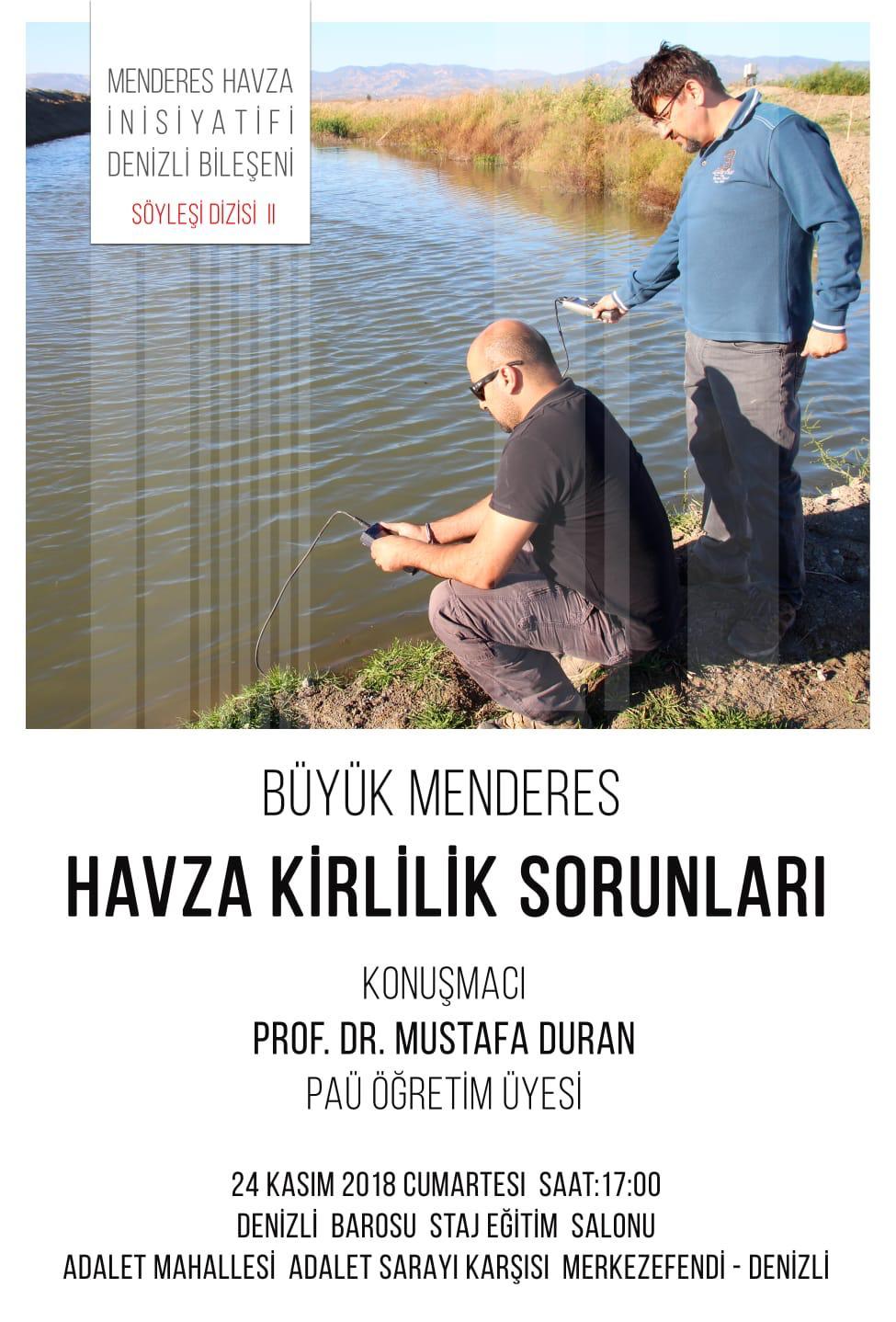 """""""Büyük Menderes Havza Kirlilik Sorunları"""" konferansı"""