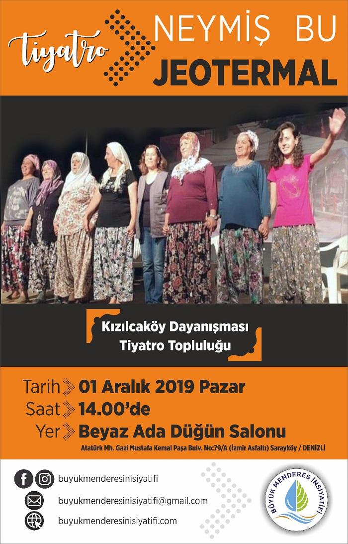 """Büyük Menderes İnisiyatifi'nin katkılarıyla """"Kızılcaköy Dayanışması Tiyatro Topluluğu"""" Sarayköy'de"""